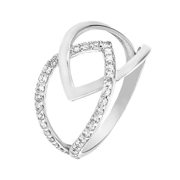Каблучка срібна фантазія з розсипом (КВ2561)