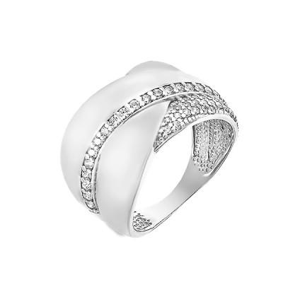 Каблучка срібна фантазія з розсипом (КВ2622)