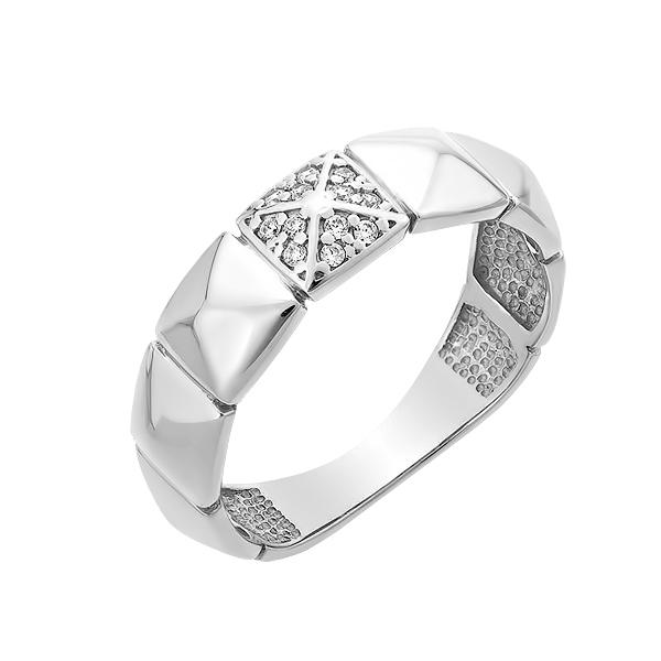 Каблучка срібна фантазія з розсипом (КВ2657)