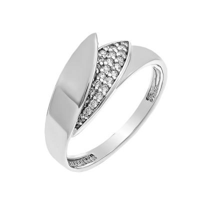 Каблучка срібна фантазія з розсипом (КВ2700)