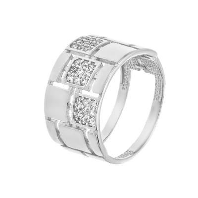 Каблучка срібна фантазія з розсипом (КВ2805)
