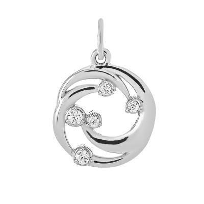 Підвіска срібна фантазія з розсипом (N00026)
