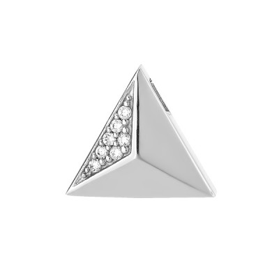 Сережки срібні геометрія з россипом (N00037)