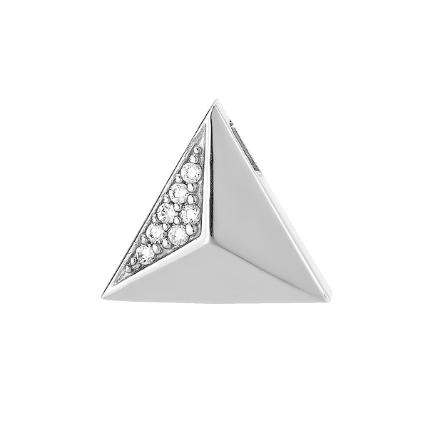 Підвіска срібнаі геометрія з россипом (N00037)