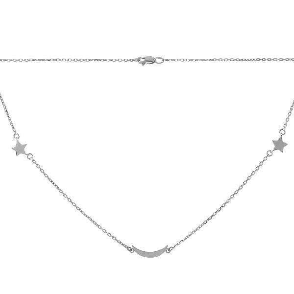 Кольє срібне Фантазія без каменів (P00002)