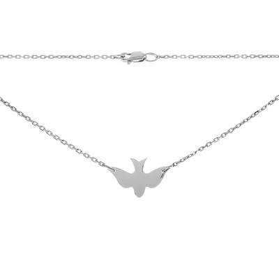 Кольє срібне Пташка без каменів (P00009)