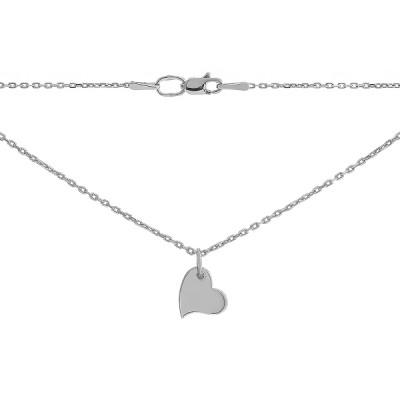 Кольє срібне Серце без каменів (P00011)