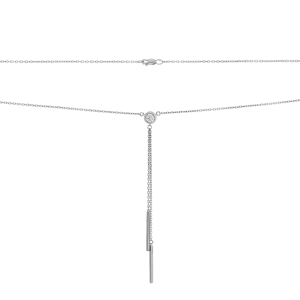 Кольє срібне з фіанітом (P00012)