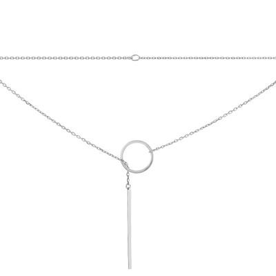Кольє срібне Геометрія без каменів (P00024)