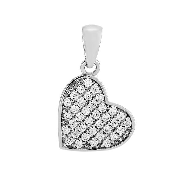 Підвіска срібна Серце з фіанітами (PPS 2132)