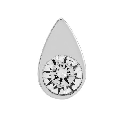 Підвіска срібна Крапля з фіанітом (ПВ1293.3)