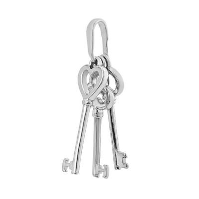 Підвіска срібна Ключі без каменів (ПВ990)