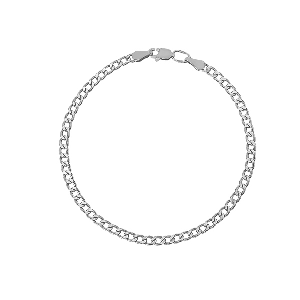 Браслет срібний Гурмет (Панцерна 60)