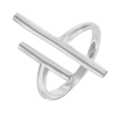 Каблучка срібна геометрія без каменів   (R00027)
