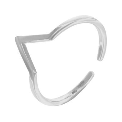 Каблучка срібна без каменів (R00028)