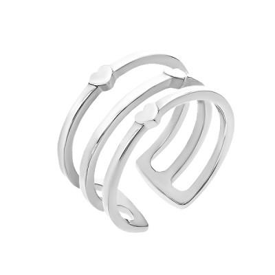 Каблучка срібна без каменів (R00043)