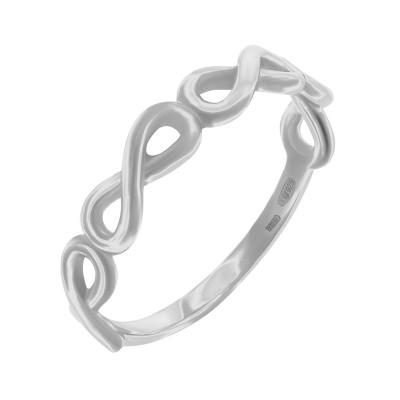 Каблучка срібна без каменів (R00054)