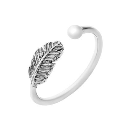 Каблучка срібна без каменів (R00075)