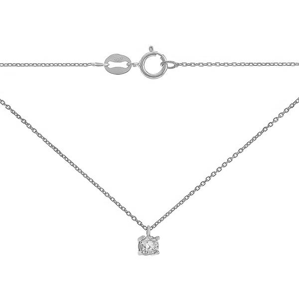 Кольє срібне з фіанітом (R 8L00 CZB4 025)