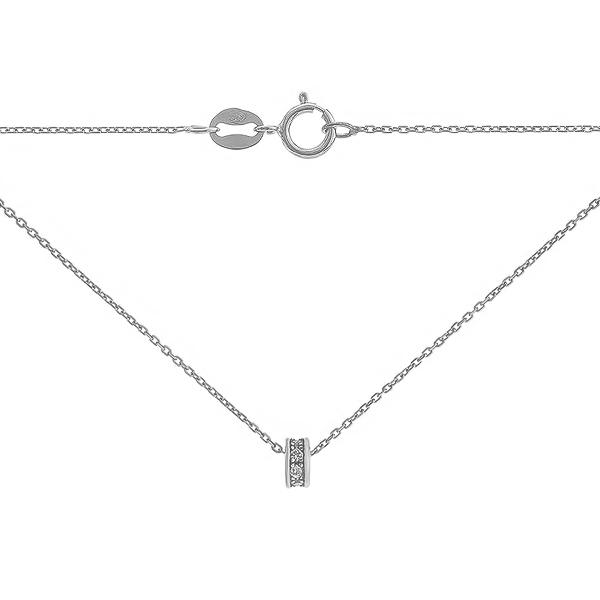 Кольє срібне Фантазія з фіанітами (R 8L00 RM1F 025)