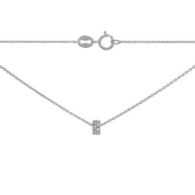 Кольє срібне Фантазія з фіанітами (R 8L00 RM2F 025)