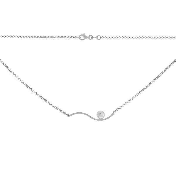 Кольє срібне Фантазія з намистиною (RMT WAVE 022)