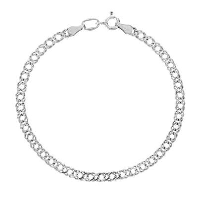 Браслет срібний Ромб (Рембо0.65)