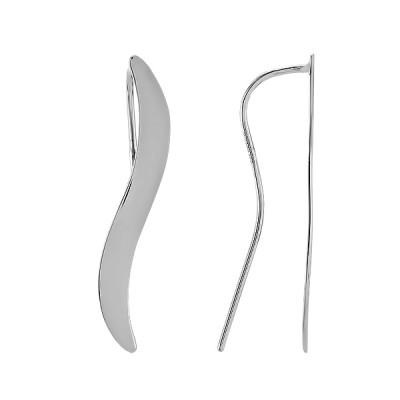 Сережки-кафи срібні геометрія без каменів (С2/1220)
