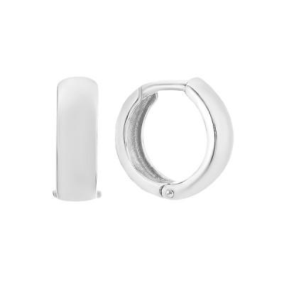 Сережки-кільця (конго) срібні без каменів (СБ006)