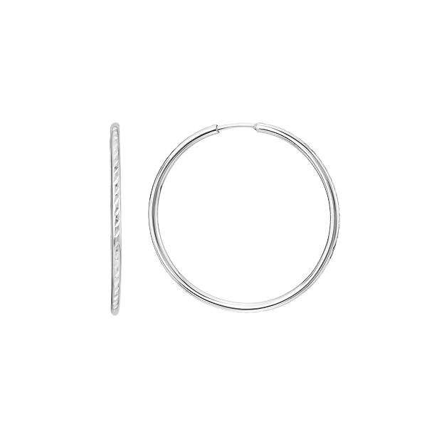 Сережки-кільця (конго) срібні без каменів (СБ042.02)