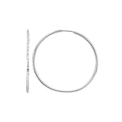 Сережки-кільця (конго) срібні без каменів (СБ042.11)