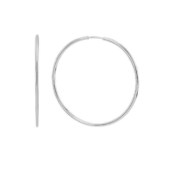 Сережки-кільця (конго) срібні без каменів (СБ042.1)