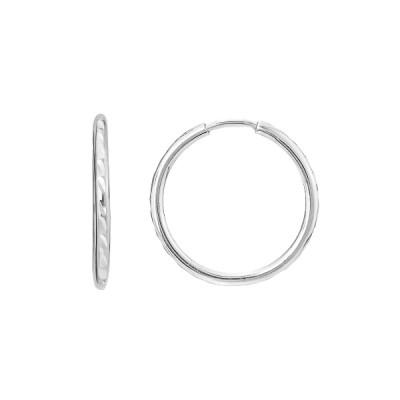 Сережки-кільця (конго) срібні без каменів (СБ042.6.1)