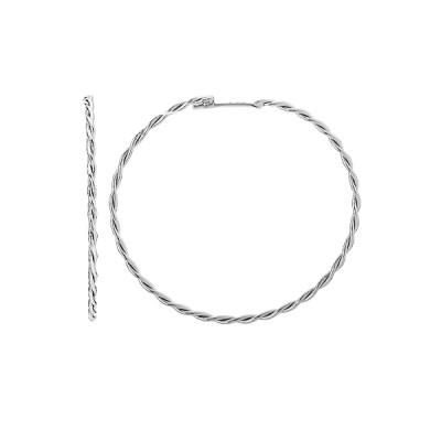 Сережки-кільця (конго) срібні без каменів (СБ124.1)