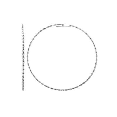 Сережки-конго срібні без каменів (СБ124)