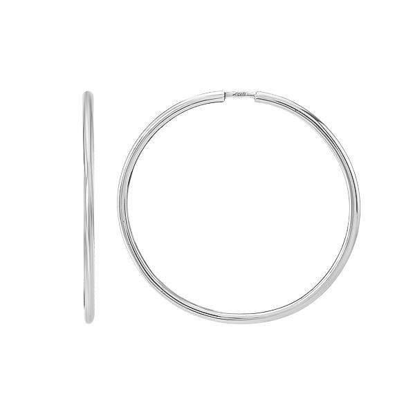 Сережки-кільця (конго) срібні без каменів (СБ136.3)