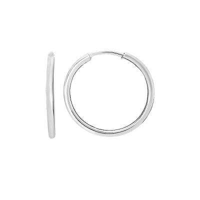 Сережки-конго срібні без каменів (СБ136.5)