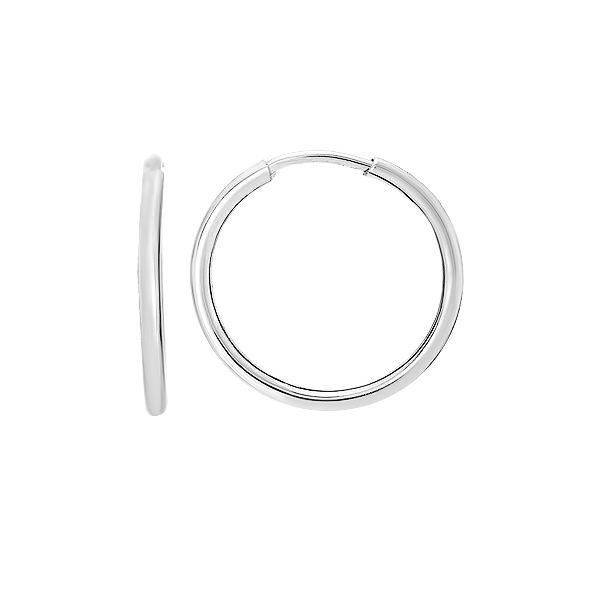 Сережки-кільця (конго) срібні без каменів (СБ136.5)