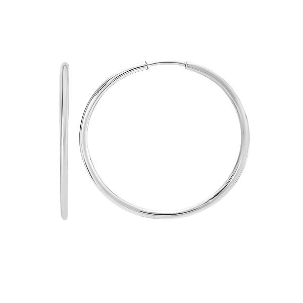 Сережки-конго срібні без каменів (СБ136.6)
