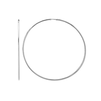 Сережки-кільця (конго) срібні без каменів (СБ136.8)