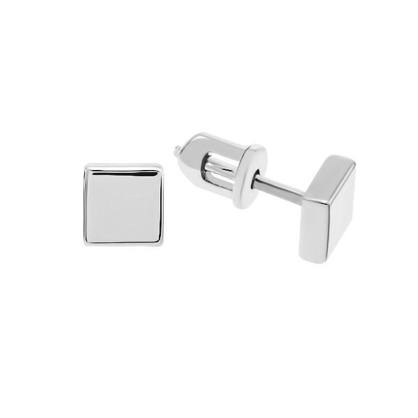 Сережки-пусети срібні геометрія без каменів (СБ226)