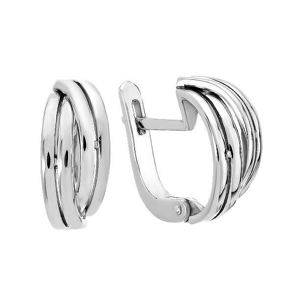 Сережки срібні фантазія без каменів (СБ237)