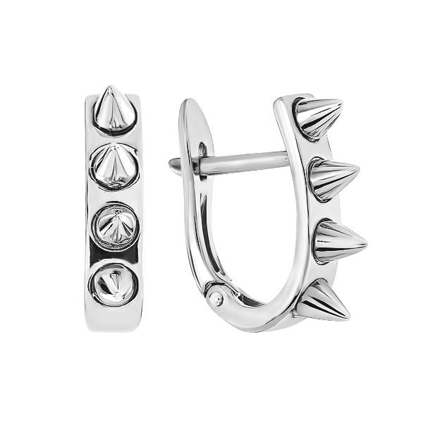 Сережки срібні фантазія без каменів (СБ239)