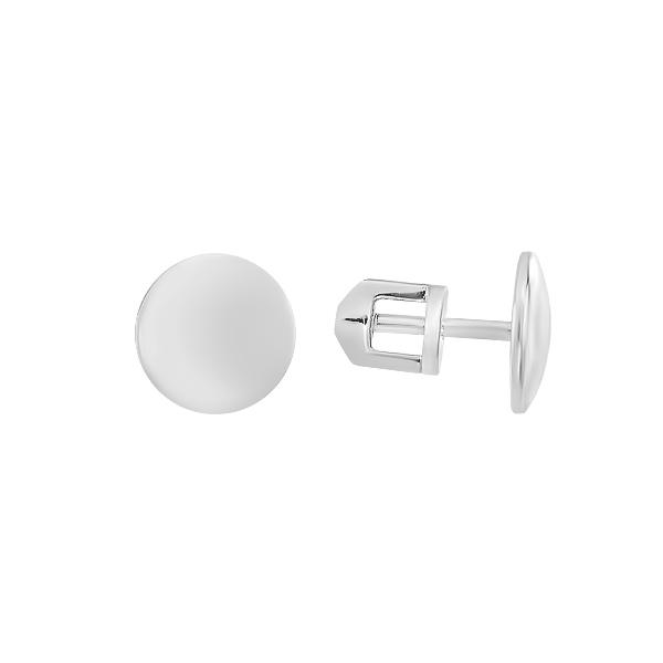 Сережки-пусети (гвоздики) срібні без каменів (СБ246)