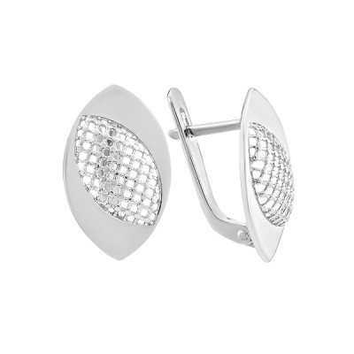Сережки срібні фантазія без каменів (СБ266)