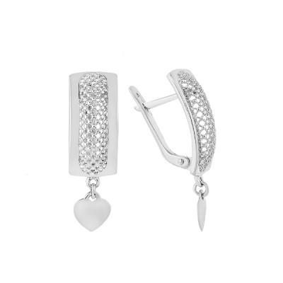 Сережки срібні фантазія без каменів (СБ288)