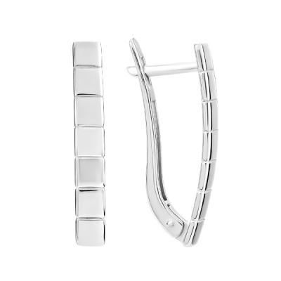 Сережки срібні фантазія без каменів (СБ299)