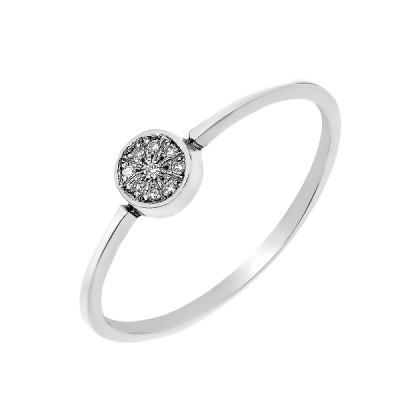 Каблучка срібна з діамантом (СД-001кр)