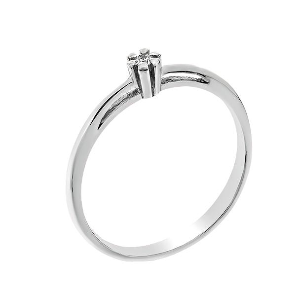 Каблучка срібна з діамантом (СД-008р)