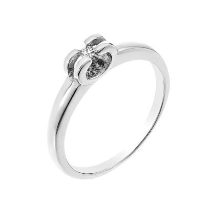 Каблучка срібна з діамантом (СД-010р)